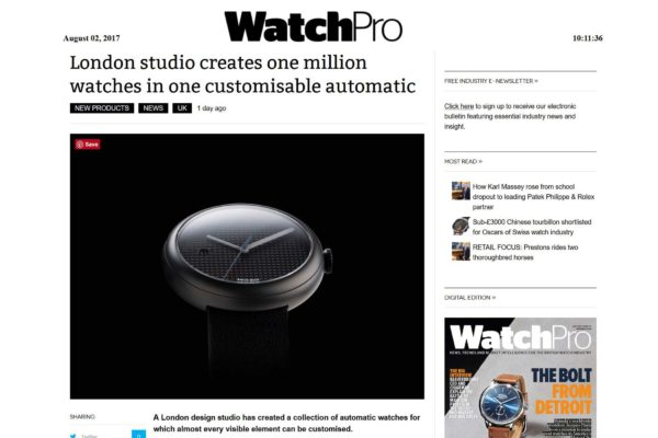 An afffordable Swiss automatic watch by Objest featured in WatchPro