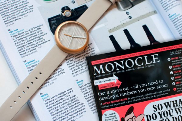 Objest hach watch selected by Monocle design and busines magazine