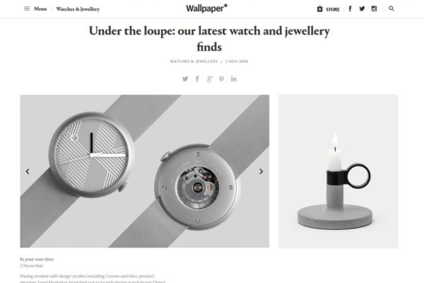 Objest hach watch selcted by wallpaper magazine