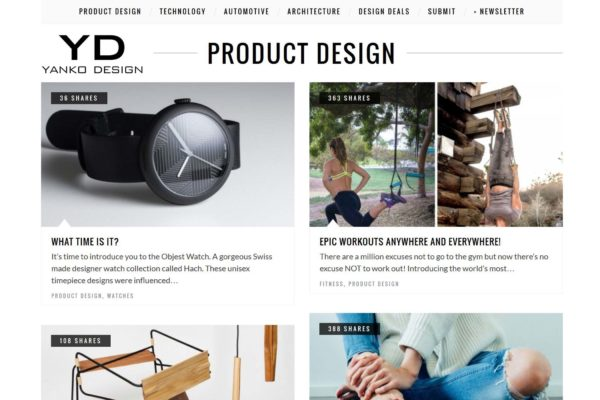 Objest hach watch featured on Yanko design and architecture blog